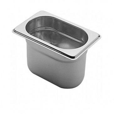 Bacinella Gastronorm GN 1/9 Inox Aisi 304