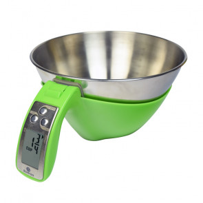 Bilancia da Cucina con Ciotola GREEN KS - Portata Kg 5