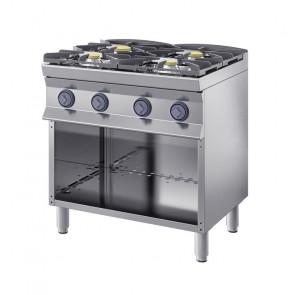 Cucina Doppia a Gas 4 Fuochi Profondità 70 cm
