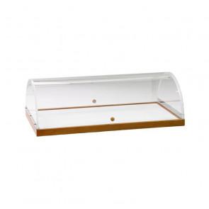Vetrina Espositiva con Cupola per Carrelli - Cm 70 x 50 x 22 h
