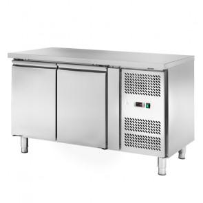 Banco Refrigerato Ventilato 2 Porte AK2104TN - Cm 136 x 70 x 85 - Temp. -2° +8°C