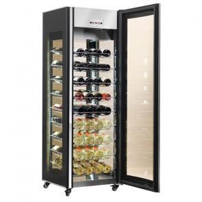 Vetrina Espositiva Refrigerata per Vini AK400WLUX - Capacità N° 81 Bottiglie