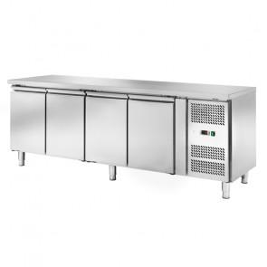 Banco Refrigerato Ventilato 4 Porte AK4104TN - Capacità Lt 553 - Profondità Cm 70 - Temp -2° +8°C