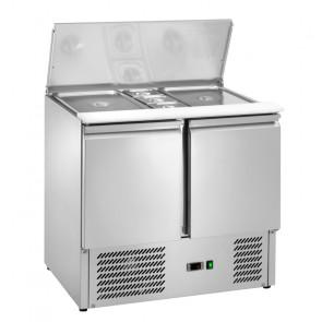 Saladette Refrigerata Statica 2 Porte - Temp +2° +8° C - Capacità Lt 240 - 2 GN1/1 + 3 GN1/6