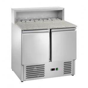 Saladette Refrigerata Pizzeria - N° 5 Bacinelle Ingredienti - Piano Granito - Capacità Lt 240