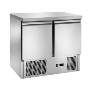 Saladette Refrigerata Statica 2 Porte - Temp +2° +8° C - Capacità Lt 240 - Piano Inox