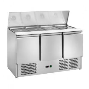 Saladette Refrigerata Statica 3 Porte - Temp +2° +8° C - Capacità Lt 368 - 4 GN1/1