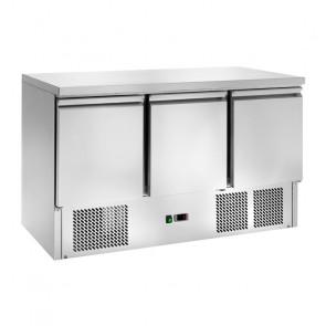 Saladette Refrigerata Statica 3 Porte - Temp +2° +8° C - Capacità Lt 368 - Piano Inox