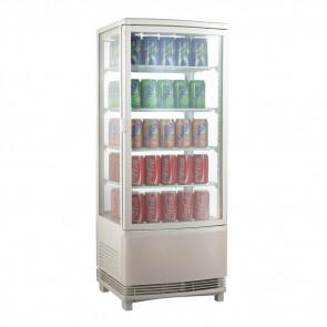 Espositore Refrigerato per Bibite AK98EB2 - Lt 98 - Doppia Porta con Vetri Curvi - Temp. +0° +12° C