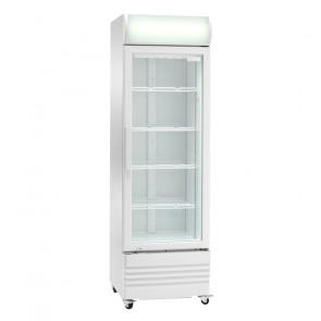 Espositore Refrigerato Ventilato Bibite - N° 4 Ruote - Capacità Lt 252 - Temp +2° +8° C