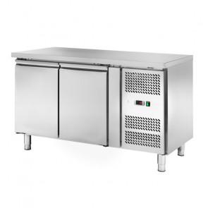 Banco Refrigerato Ventilato 2 Porte AKS2104TN - Capacità Lt 228 - Prof Cm 60 - Temp -2° +8°C