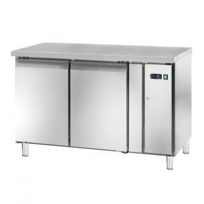 Tavolo Refrigerato GN1/1 - 2 Ante - Motore Remoto Ventilato - Profondità Cm 70