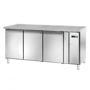 Tavolo Refrigerato GN1/1 - 3 Ante - Motore Remoto Ventilato - Profondità Cm 70