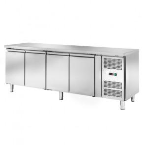 Banco Refrigerato Ventilato 4 Porte AKS4100TN - Capacità Lt 449 - Prof Cm 60 - Temp -2° +8°C