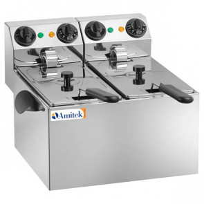 Friggitrice Elettrica da Banco FE44 - 2 Vasche da 3 Litri
