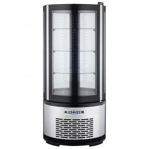 Espositore Refrigerato Tondo - Dimensioni: Cm. 48 x 48 x 103 h - Capacità Lt 100