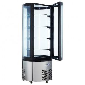 Espositore Refrigerato Tondo - Dimensioni: Cm. 68 x 68 x 175 h - Capacità Lt 400