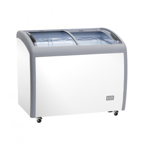 Congelatore/Refrigeratore a Pozzetto AX300CFG - Porta con Vetro Curvo - Capacità Lt 300