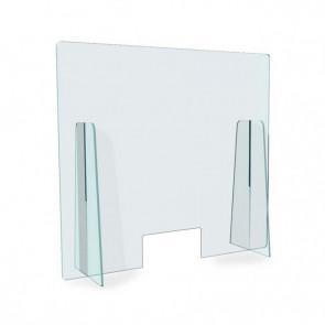 Barriera Protettiva Parasputi in Plexiglass 5 mm con Passadocumenti, Misure a scelta