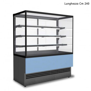 Vetrina da Esposizione EVOK 240 -  Lunghezza Cm 240 - Refrigerata o Neutra