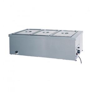 Tavola Calda da Banco con Resistenza a Secco BMS1781 - Acciaio Inox AISI 304 - Diverse Capacità