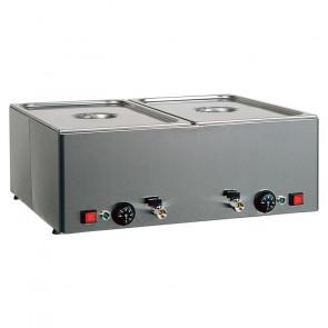 Tavola Calda da Banco Bagnomaria BMV11 - Temperature Differenziate - Acciaio Inox - Diverse Capacità