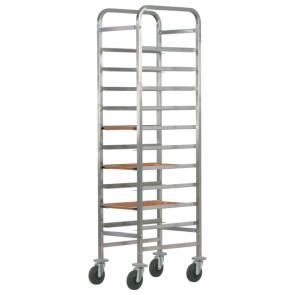 Carrello Porta Vassoi GN1/1 Rinforzato - Capacità 10 Vassoi - Diversi Modelli