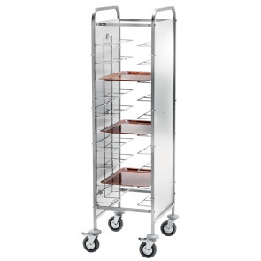 Carrello Porta Vassoi Universali - Capacità 10 Vassoi - Diversi Modelli