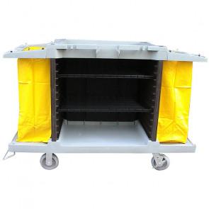 Carrello Multiuso - Secchi e Strizzatore - Cestino Portabottiglie