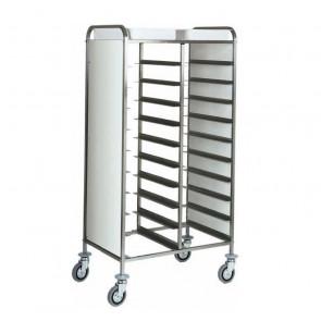 Carrello Porta Vassoi GN1/1 con Pannelli Laterali  - Capacità 20 Vassoi - Diversi Modelli