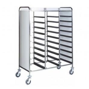 Carrello Porta Vassoi GN1/1 con Pannelli Laterali - Capacità 30 Vassoi - Diversi Modelli