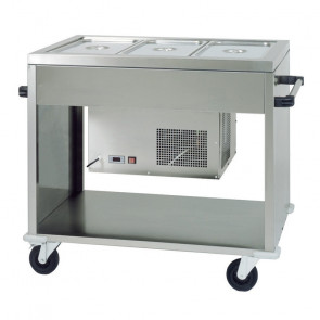 Carrello Refrigerato Inox AISI 304 CAR2779 - N° 3 Bacinelle GN1/1