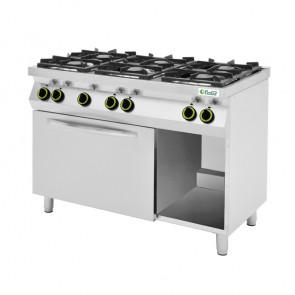 Cucina a Gas 6 Fuochi con Forno Elettrico e Vano a giorno
