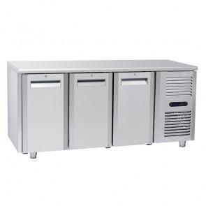 Tavolo Congelatore per Gastronomia - 3 Porte - Profondità Cm 70 - Capacità 410 - Temp -22° -18° C