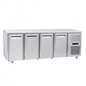 Tavolo Congelatore per Gastronomia - 4 Porte - Profondità Cm 70 - Capacità 410