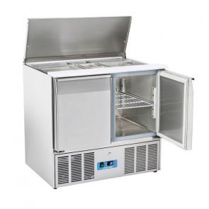 Saladette Refrigerata Statica GN1/1 2 Porte - Top Inox Apribile - Capacità Lt 230