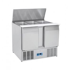 Saladette Refrigerata Statica GN1/1 2 Porte - Top Inox Apribile - Capacità Lt 270