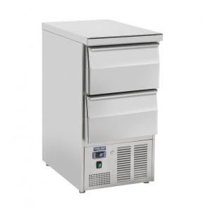 Saladette Refrigerata GN1/1 - Top Inox Chiuso - n° 2 Cassetti -  Capacità Lt 215 - Temp 0° +8° C