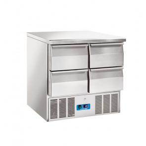 Saladette Refrigerata Statica GN1/1 4 Cassetti - Top Inox - Capacità Lt 215