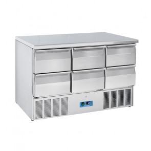 Saladette Refrigerata Statica GN1/1 6 Cassetti - Top Inox - Capacità Lt 340