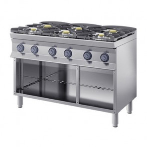 Cucina a Gas 6 Fuochi, profondità 90 cm