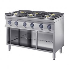 Cucina a Gas 6 Fuochi, profondità 70 cm
