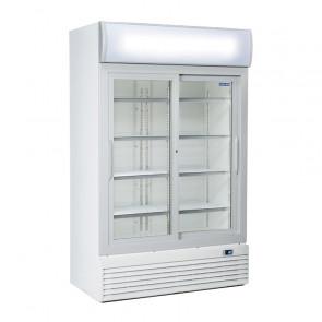 Armadio Refrigerato Ventilato per Bibite  - Porte a Vetro Scorrevole -  Capacità 1000 Lt - Temp +1° +10° C