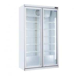 Armadio Refrigerato Verticale per Bibite - Porte a Cerniera - Capacità Lt 1050 - Temperatura +1° +10° C