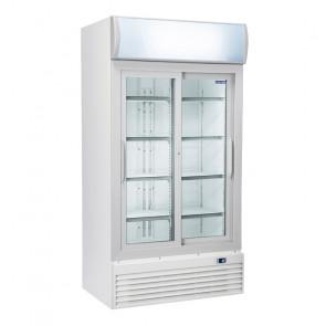 Armadio Refrigerato per Bibite - Porte a Vetro a Scorrevole -  Capacità 800 Lt - Temp +1° +10° C