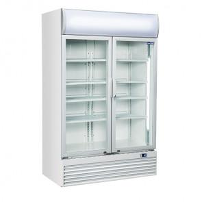 Armadio Refrigerato Ventilato per Bibite  - Porte a Vetro a Battente -  Capacità 1000 Lt - Temp +1° +10° C