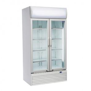 Armadio Refrigerato per Bibite - Porte a Vetro a Battente -  Capacità 800 Lt - Temp +1° +10° C