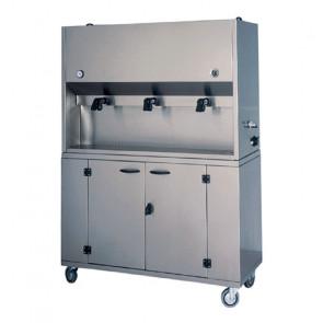 Armadio Distributore per Prime Colazioni DCM1699 - Acciaio Inox - 2 o 3 Recipienti