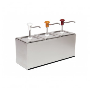 Dosatore per Salse Fredde e Dense Triplo DIS-B3 - Capacità Lt 9