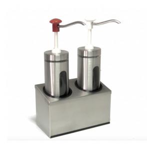 Dosatore con Pompa in Plastica Doppio DIS-D2 - Capacità Lt 4